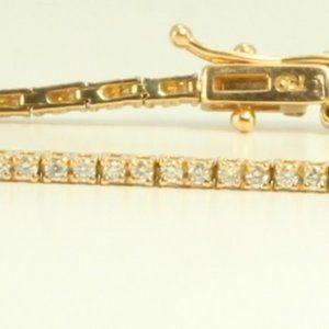 18K Gold Diamond Tennis Bracelet 1.1 Ct C11000136